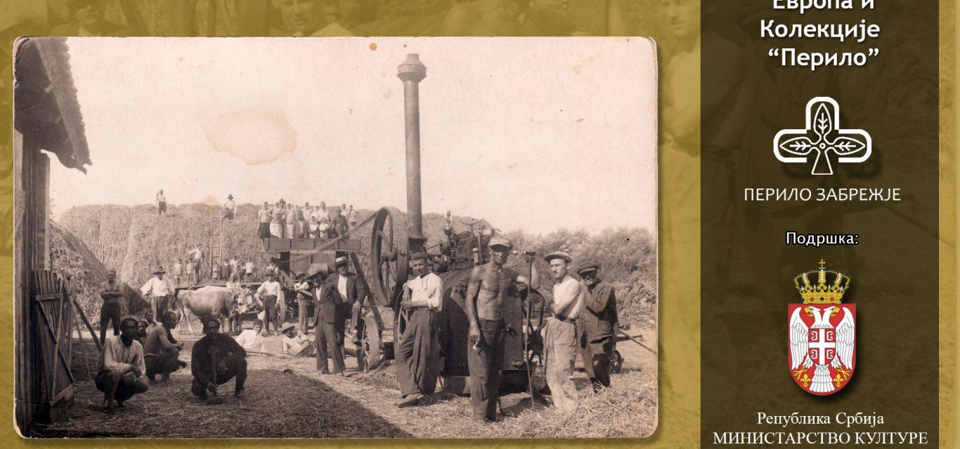 """Фотографија вршаја у Забрежју 1908- Колекција """"Перило"""""""