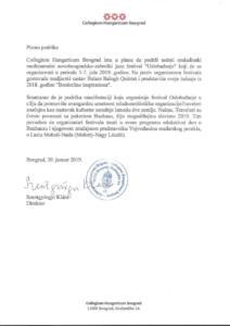 Support Colegium Hungaricum 2019